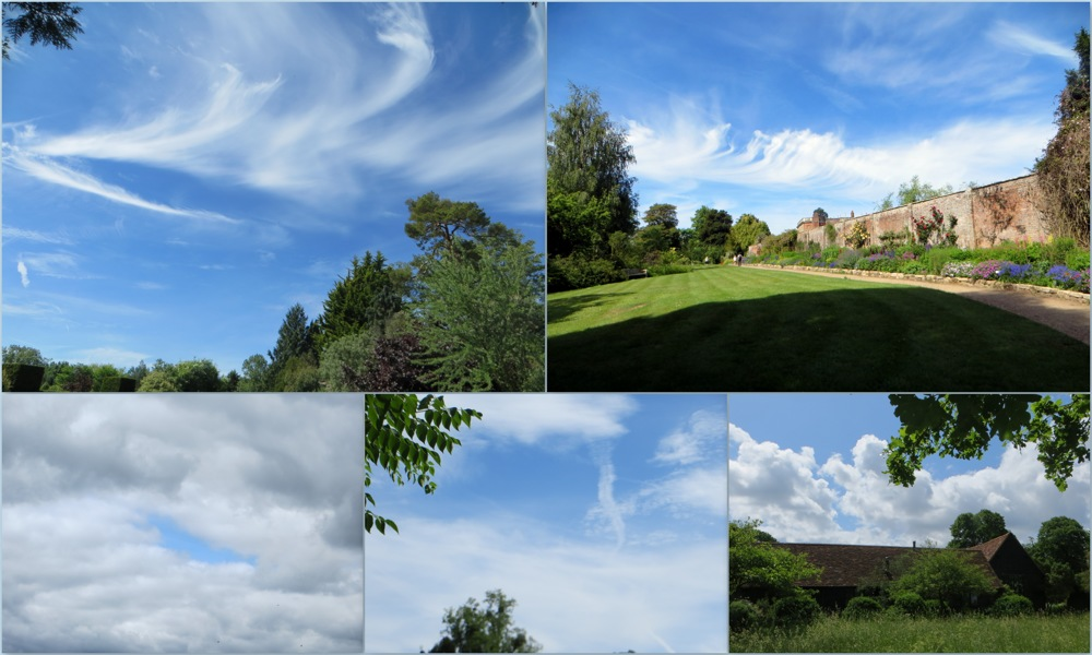 photoblog image Cloudscape above some English gardens