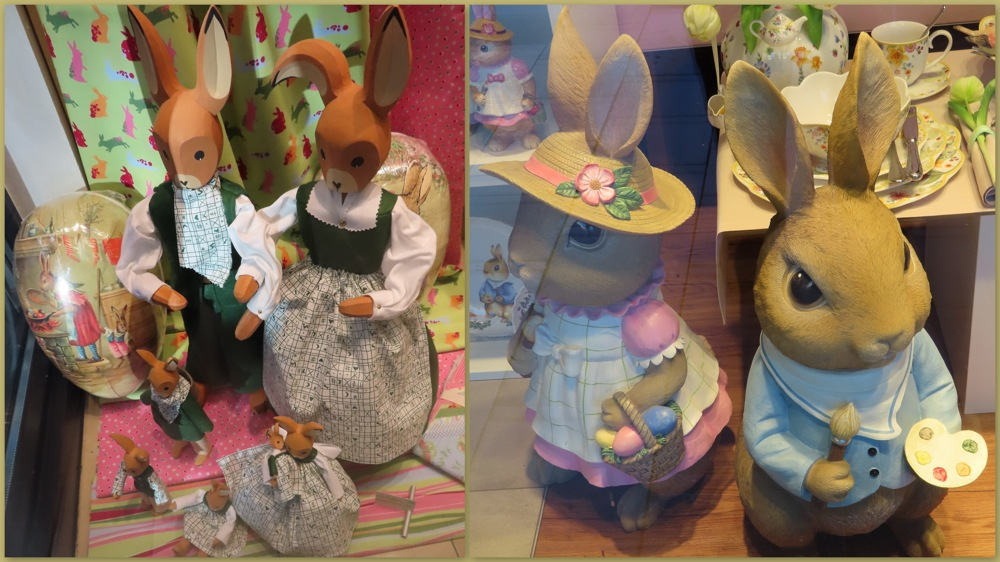 photoblog image Easter decorations - but where are the shoppers?